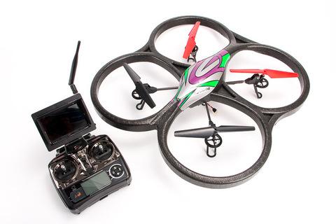 Радиоуправляемый вертолет (квадрокоптер) WL Toys V666 FPV с передающей камерой