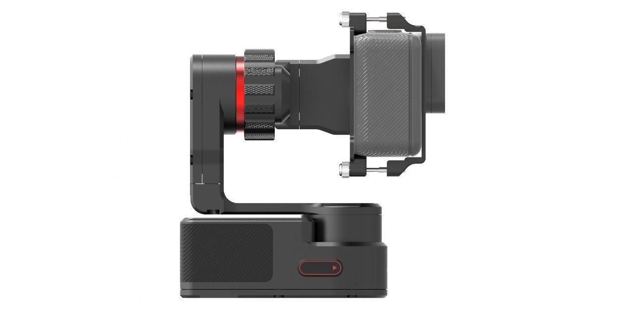 Стабилизатор трехосевой Feiyu FY-WG2 с камерой вид сбоку
