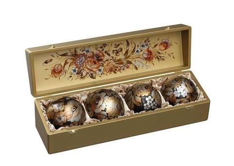 Набор из 4 елочных шаров в шкатулке SET04D-667785829