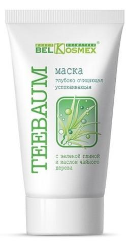 BelKosmex Teebaum Маска глубоко очищающая успокаивающая с зеленой глиной и маслом чайного дерева 100г