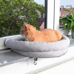 Trixie лежак для кошки на подоконник, светло-серый 54х12х44 см