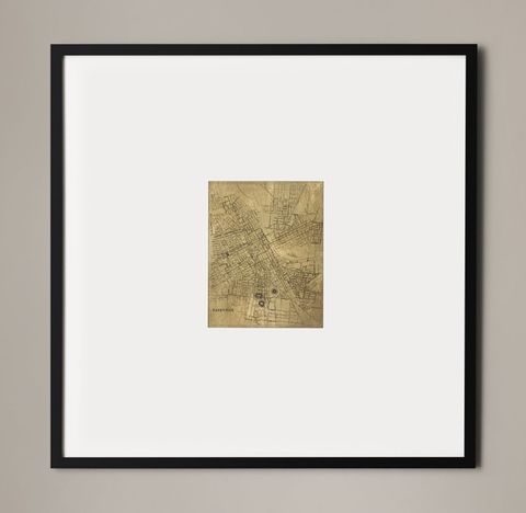 Christopher Wilcox: C. 1900 Metallic Leaf City Maps - Nashville Gold
