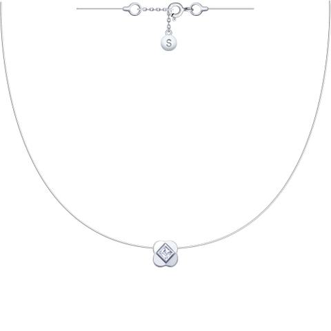 Подвеска-цветок на леске невидимке с серебряными замочками
