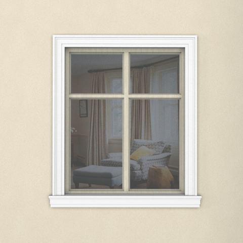 Окно с наличником из пенопласта 145ПН1