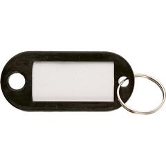 Бирки для ключей 10 шт/уп, черная