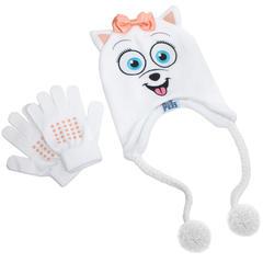Тайная жизнь домашних животных шапка Гиджет с перчатками