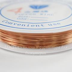 Проволока медная 0,4 мм, цвет - медь, примерно 15 метров