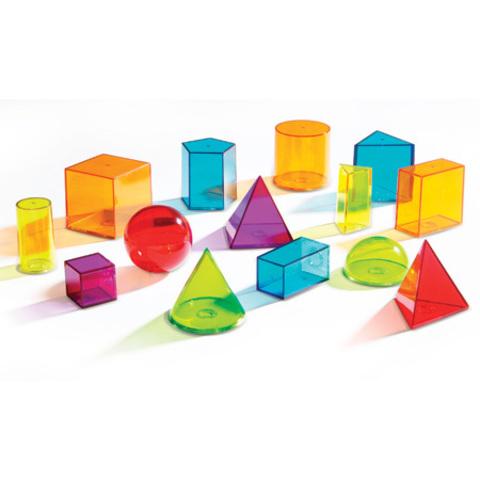 Набор объемных геометрических фигур, 14 шт. Learning Resources