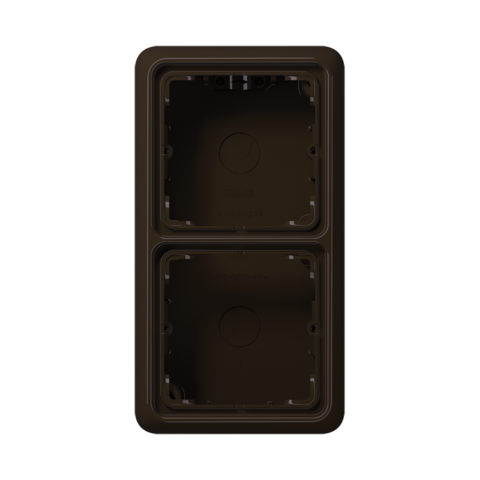 Накладная коробка на 2 поста. Цвет Коричневый. JUNG CD Накладные коробки. CD582ABR