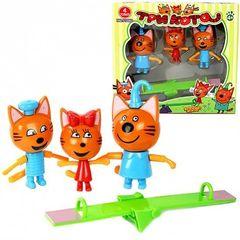Три кота: Качель+ Коржик, Карамелька, Компот.