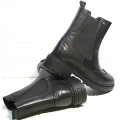 Ботинки женские осень весна Jina 7113 Leather Black