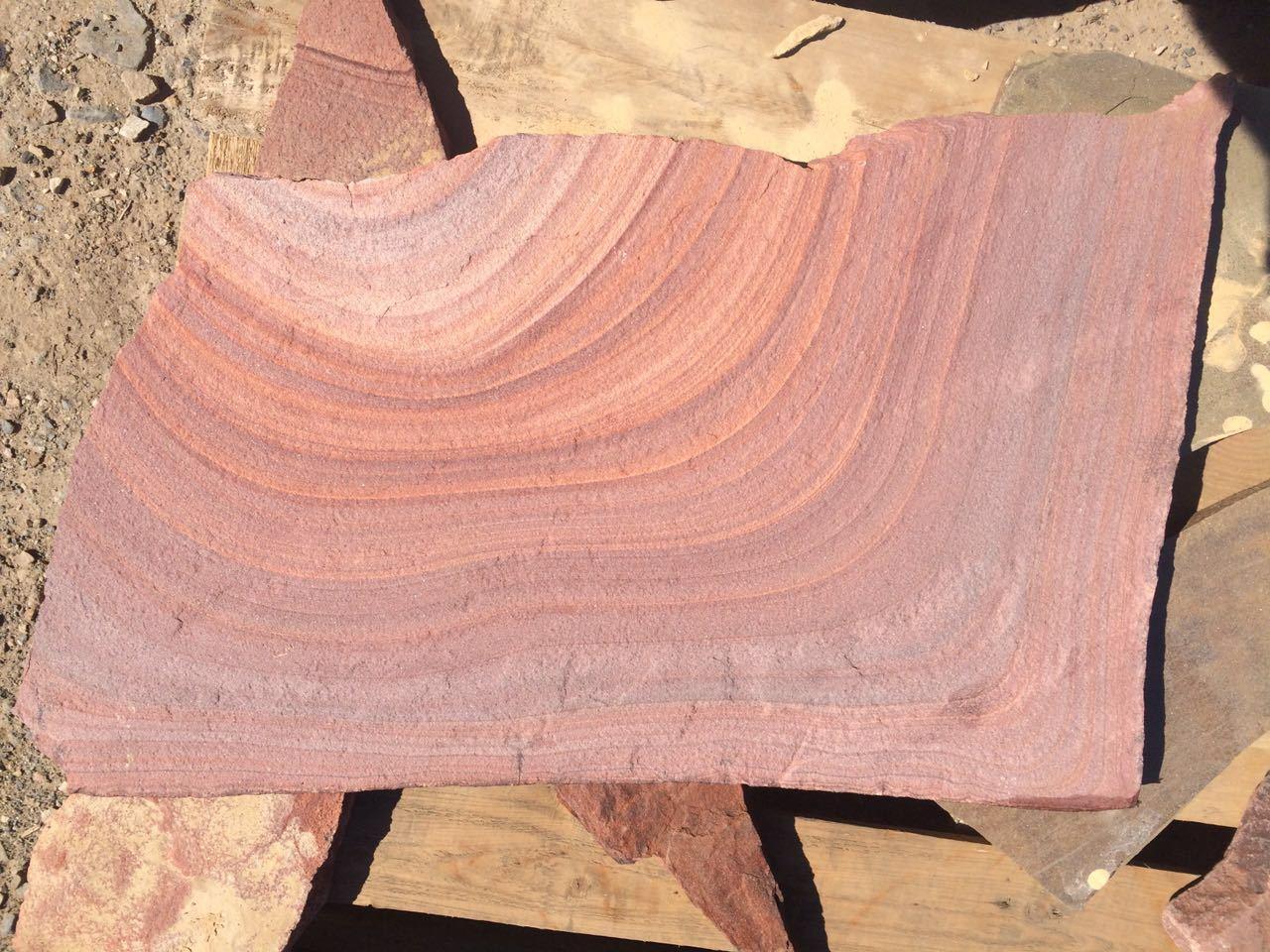 песчаник малиновая радуга, образец
