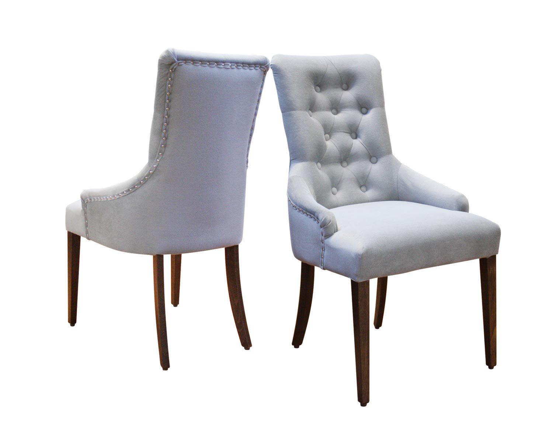 Стул мягкий Бахрома, декоративная отделка гвоздиками, фетровые подпятники на ножках стула