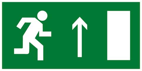Эвакуационный знак Е11 - Направление к эвакуационному выходу прямо (правосторонний)