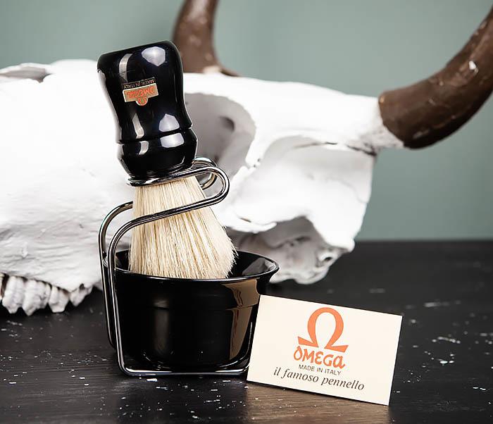 RAZ410-1 Набор для бритья из помазка, чаши и подставки фото 09