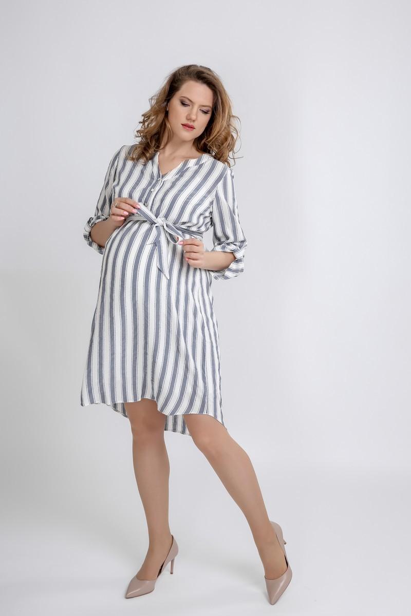 Платье 09593 полоска