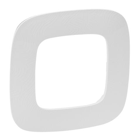Рамка на 1 пост. Цвет Тиснение белое. Legrand Valena Allure (Легранд Валена Аллюр). 754371