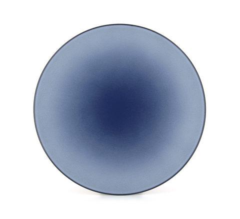 Фарфоровое круглое блюдо Cirrus Blue 31.5 см, синие, артикул 649503, серия Equinoxe