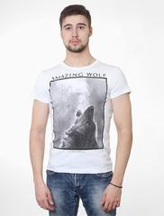 0301-1 футболка муж. белая
