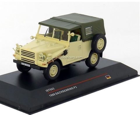 Sachsenring P3 1960 army DDR IST 043 1:43