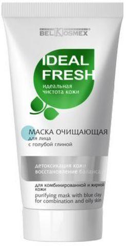 BelKosmex Ideal fresh Маска очищающая с голубой глиной для лица детоксикация кожи восстановление баланса для комбинированной и жирной кожи 80г