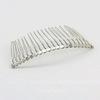 Гребень, основа для заколки 76х37 мм (цвет - античное серебро)