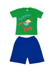 DL11-73-19-18 Комплект детский, зеленый (футболка+шорты)