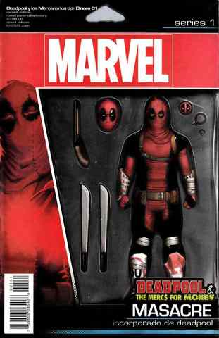 Deadpool And Mercs For Money #1 Action Figure Variant Cover (c автографом Salvador Espin)