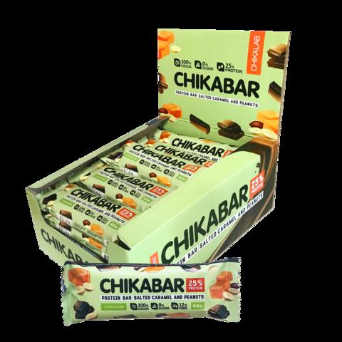 Протеиновый батончик Chikalab Арахис с карамельной начинкой, 60 гр