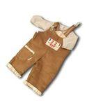 Полукомбинезон из вельвета - Коричневый. Одежда для кукол, пупсов и мягких игрушек.