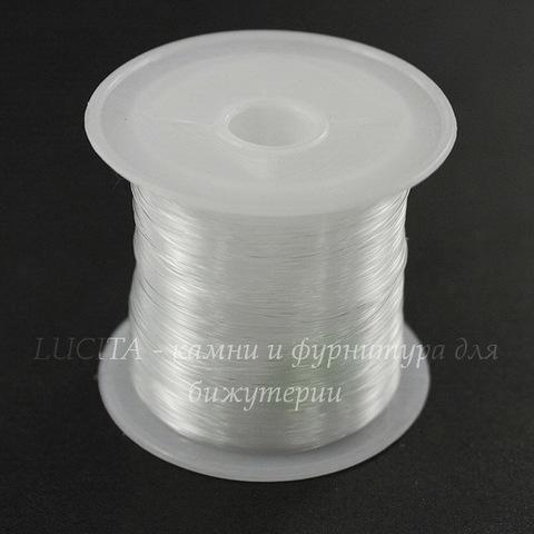 Леска для бисера и бусин, 0,35 мм, цвет - прозрачный, примерно 55 м