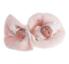 Munecas Antonio Juan Кукла-младенец Оливия в розовом, 42 см (5062P)