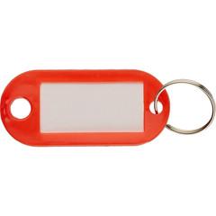 Бирки для ключей пластиковая, красная, 100шт./уп.