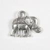"Подвеска ""Слон"" 14х12 мм (цвет - античное серебро)"