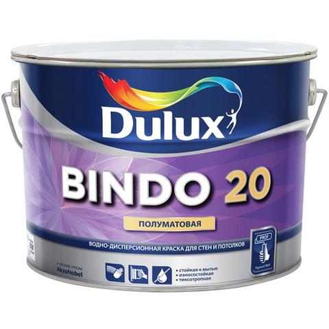Краска интерьерная суперизносостойкая влагостойкая п/мат белая 1л Баз BW Dulux Bindo20