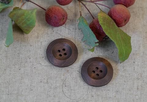 Деревянные пуговицы  25 мм