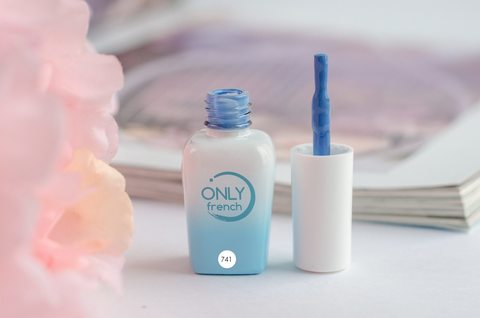 Гель-лак Only French, LightBlue Touch №741, 7ml