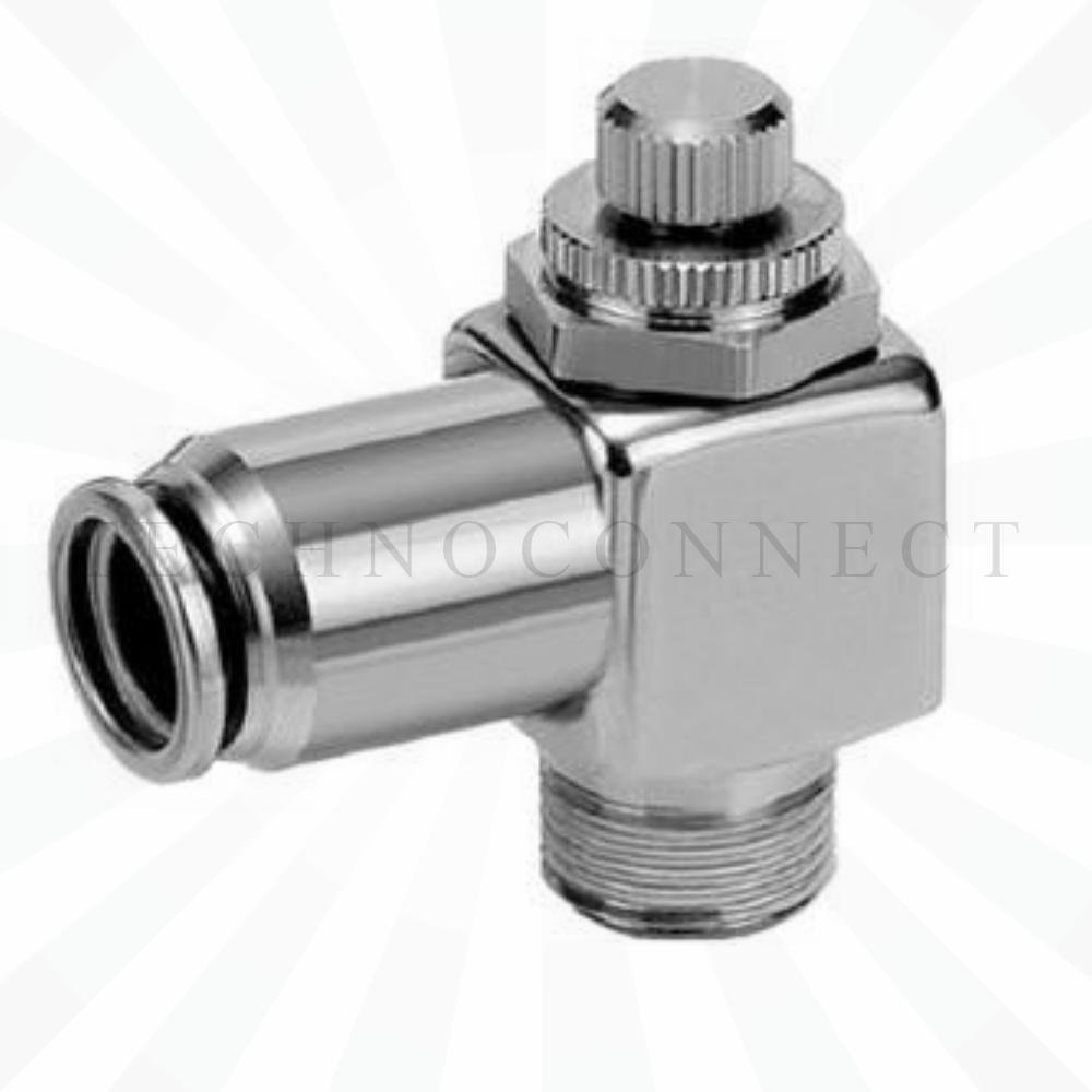 ASG220F-M5-04  Дроссель с обратным клапаном, нерж. ст.