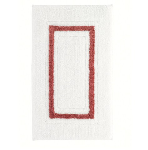 Коврик для ванной 51х79 Kassatex Framed Stripe White/Paprika