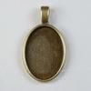 Сеттинг - основа - подвеска для камеи или кабошона 25х18 мм (цвет - античная бронза)