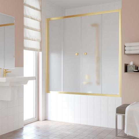 Шторка на ванну Vegas Glass Z2V профиль золото, стекло сатин