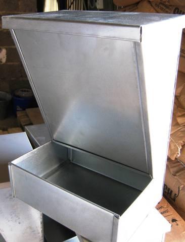 Кормушка для птицы 10л металлическая бункерная