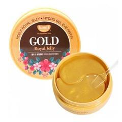 Petitfee Koelf Gold & Royal Jelly Eye Patch - Гидро-гелевые патчи для кожи вокруг глаз с золотом и маточным молочком