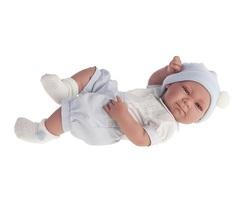 Munecas Antonio Juan Кукла-младенец Оли (мальчик) в голубом, 42 см (5051B)