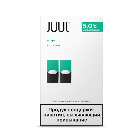 Картриджи JUUL Мята 5% 2 шт
