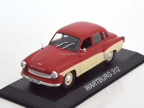 Wartburg 312 red-beige 1:43 DeAgostini Masini de legenda #6