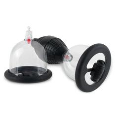 Женские вакуумные помпы для сосков, с вибрацией, Vibrating Nipple Pleasure Cups
