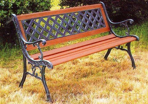 Скамейка чугунная садовая 404