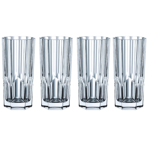 Набор из 4 высоких хрустальных стаканов ASPEN, 309 мл
