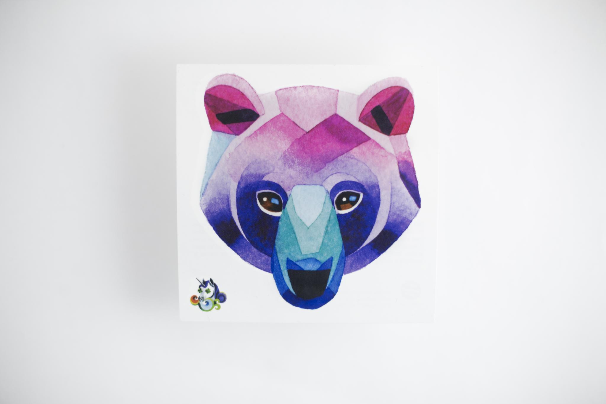 Переводная татуировка Bear